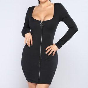 Fashion Nova Out Of Time Ribbed Dress